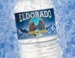 The logo and label for a bottle of Eldorado Natural Springs water