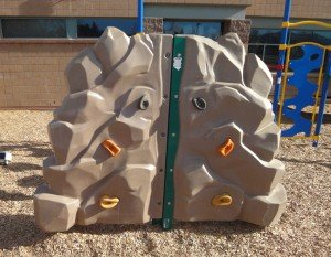A climbing wall for little tykes at Superior Elementary School, Rock Creek