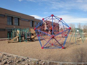 The Web, a three dimensional play structure for climbing at SES, Rock Creek, Colorado