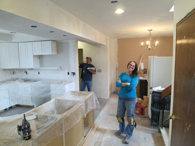 Boulder Colorado Home Remodel the current view of consturction