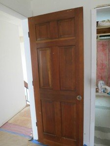 new doors are actually recycle, solid core top shelf.  A little paint and these will be a significant attribute