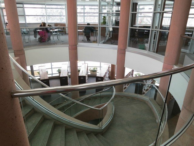 Boulder Public Library Main Branch spiral staircase