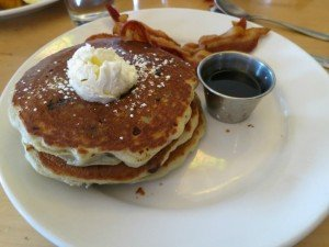 pancakes bacon and syrup photo by Bob Gordon Realtor