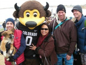 Bob Gordon and teammates for Boulder Polar Plunge