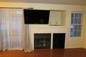 a wall mounted flat screen tv