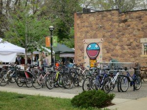 bicycle parking at the Boulder Farmers Market