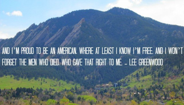 Boulder Memorial Day  quote