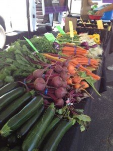 fresh farmers market veggies