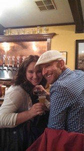 Bob Gordon's real estate clients Stepahanie and josh in the avery tap house, boulder colorado