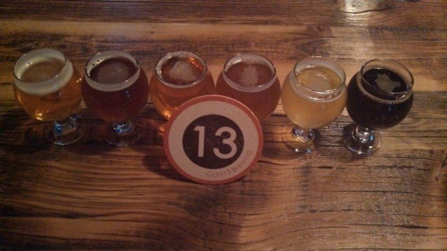 odd 13 brewery samples