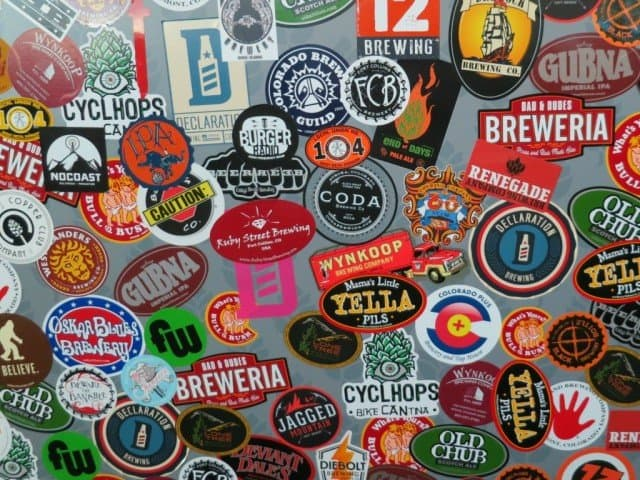 denver and boulder craft brewery logos and stickers