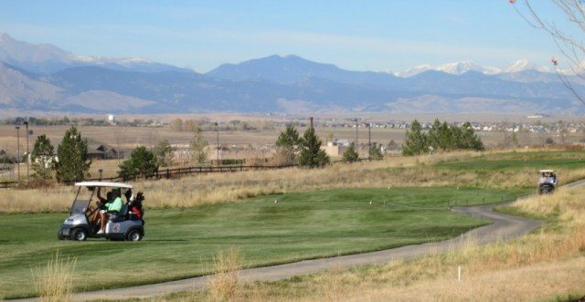 golf carts on fairway boulder colorado