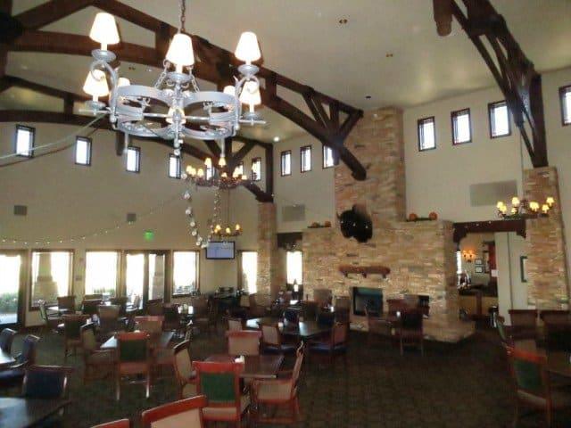 interior of the restaurant at colorado national golf club