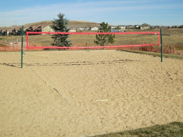 sand volleyball court at vista ridge