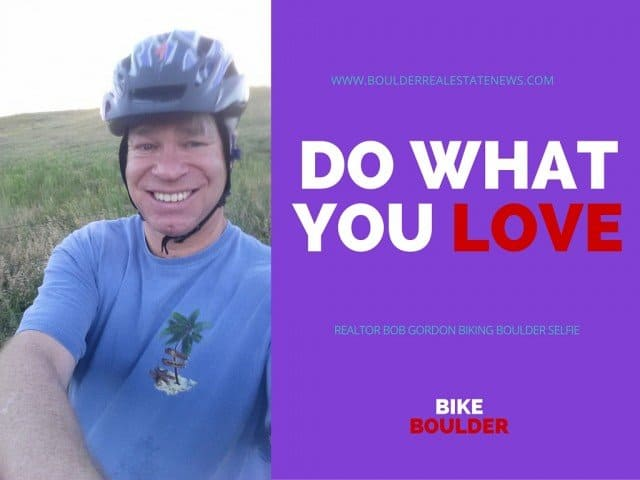 boulder bicycle rider, blogger and realtor bob gordon