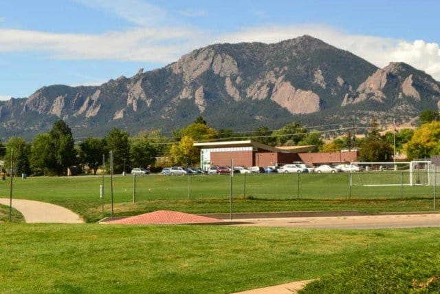 summer view of the flatirons mountains boulder colorado