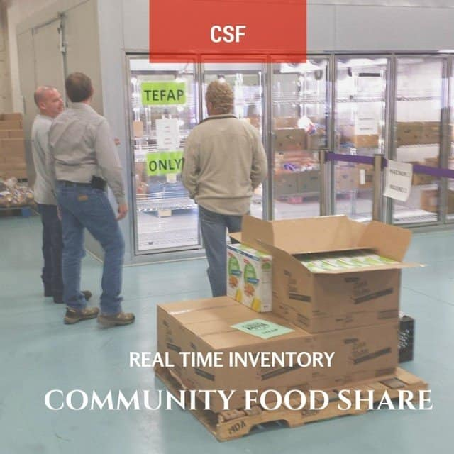 community food share grocery area