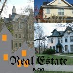 real estate blog graphic of houses