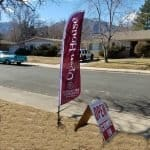 berkshire hathaway homeservices real estate open house signage