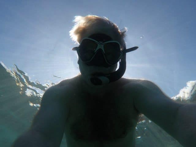 selfie bob gordon snorkeling