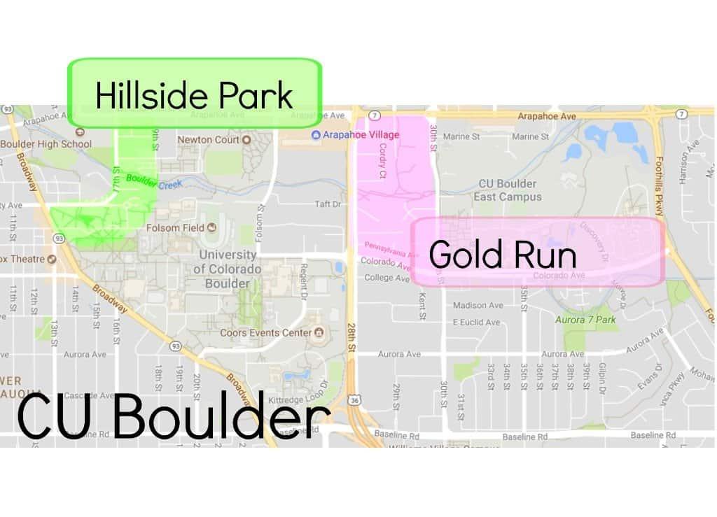 CU Boulder map of neighborhoods