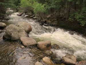 Running stream in Boulder, CO