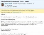 Bob Gordon Realtor recommendation letter