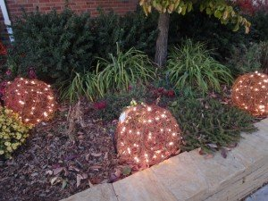 junk we threw away when moving - big pumpkin lights