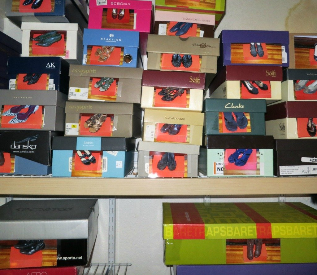 Shoe Boxes With Photos Of The Shoes