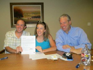 Matt dipaolo traci brown bob gordon at real estate closing
