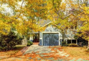3826 Staghorn exterior of home on pretty fall day with golden light shining through tree leaves