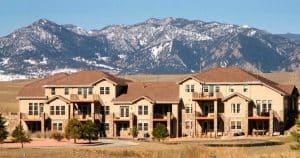 The Rocky Mountain Range backdrops a home in Calmante, a subdivision of Superior.