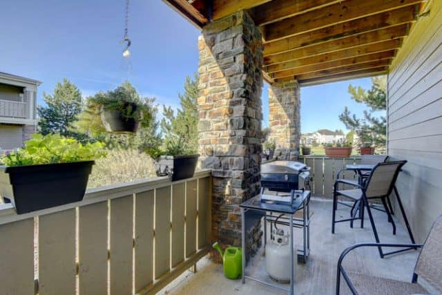 grill on covered patio
