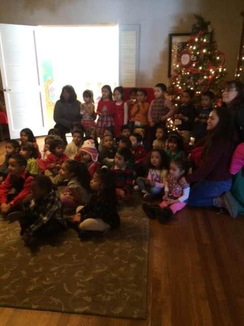 children at boulder santas house