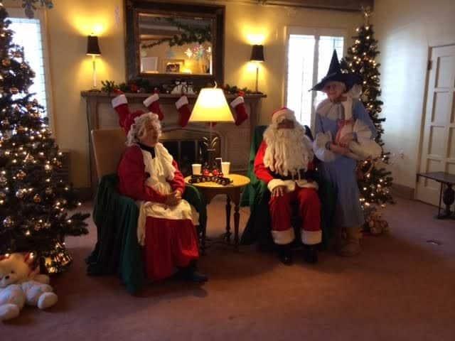 mrs claus and santa and mother goose at boulder santas house