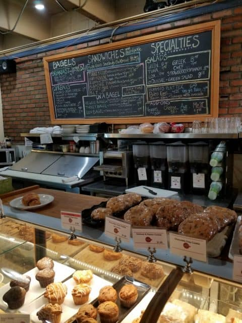 the counter inside the cup coffee shop